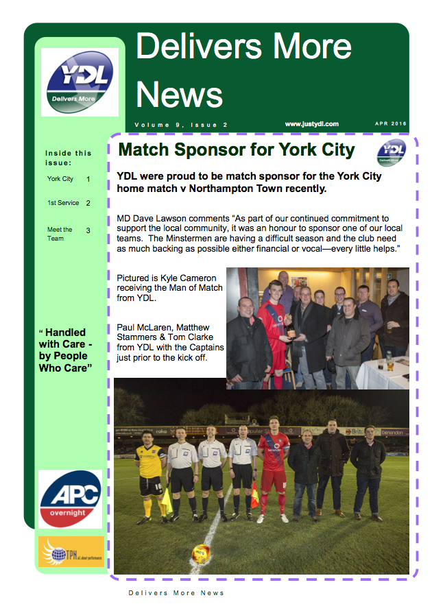 April Newsletter pg1